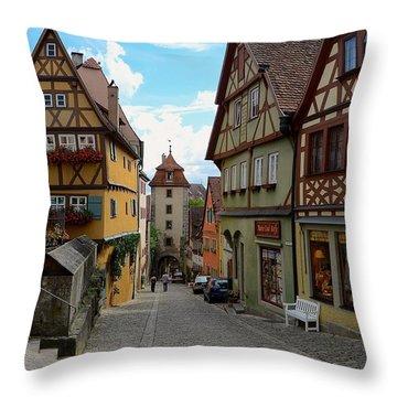 Rothenburg Ob Der Tauber Throw Pillow by Corinne Rhode