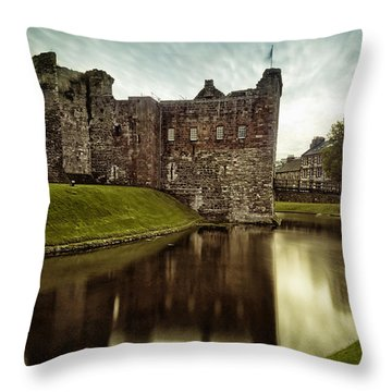 Rothesay Castle Throw Pillow