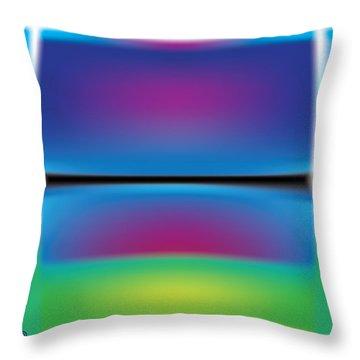 Rothko Blue Yellow Throw Pillow