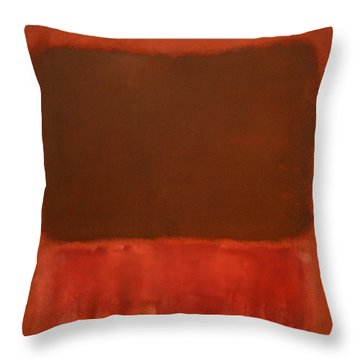 Rothko's Mulberry And Brown Throw Pillow