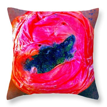 Throw Pillow featuring the photograph Rotten Tommy's Smile by Marianne Dow