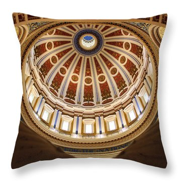Rotunda Dome On Wings Throw Pillow