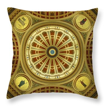 Throw Pillow featuring the photograph Rotunda by Joseph Skompski