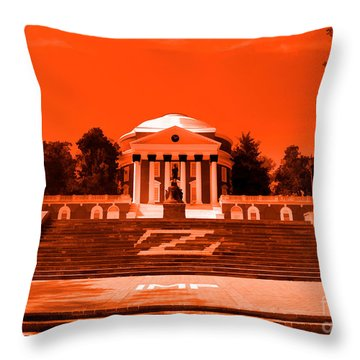 Throw Pillow featuring the photograph Rotunda Uva Orange by Nigel Fletcher-Jones