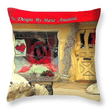 Rouge On The Rue Throw Pillow by Tami Quigley
