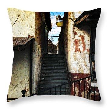 Rough Climb Throw Pillow