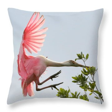 Rough Landing Throw Pillow