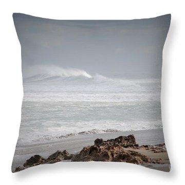 Rough Mist Throw Pillow by George Mount