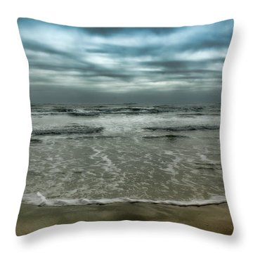 Rough Surf Throw Pillow