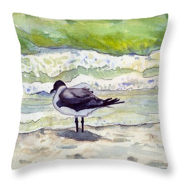Rough Waters Ahead Throw Pillow