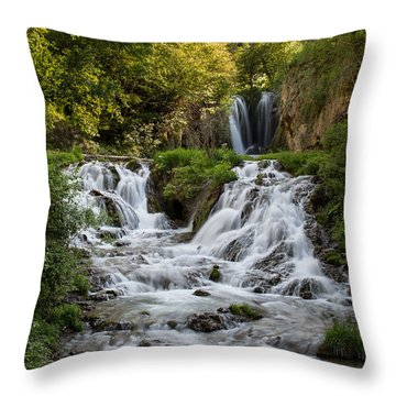 Throw Pillow featuring the photograph Roughlock Falls South Dakota by Patti Deters
