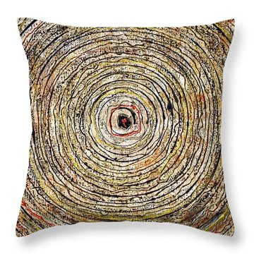 Round And Around Throw Pillow by Carla Sa Fernandes