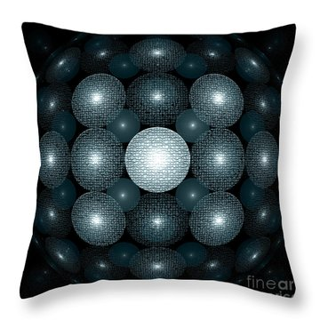 Round And Round Throw Pillow by Klara Acel