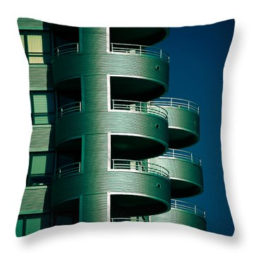 Round And Round Up And Down Throw Pillow by Christi Kraft