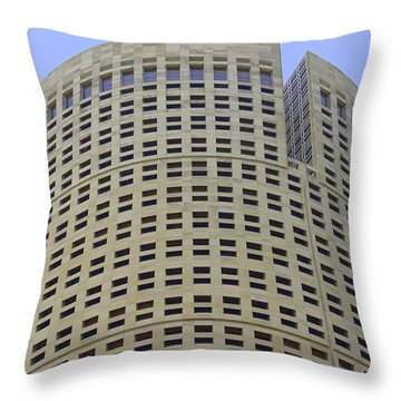 Round Architecture Throw Pillow by Laurie Perry