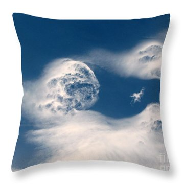 Round Clouds Throw Pillow by Leone Lund