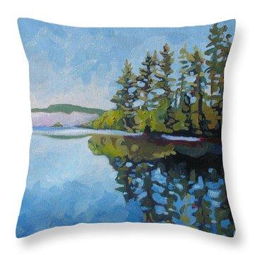 Round Lake Mirror Throw Pillow