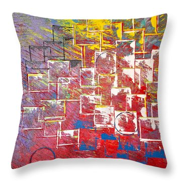 Round Peg Throw Pillow by George Riney