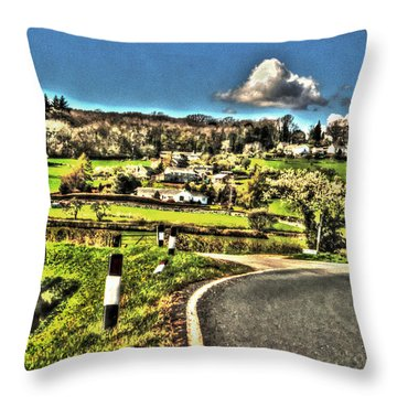 Throw Pillow featuring the photograph Round The Bend by Doc Braham