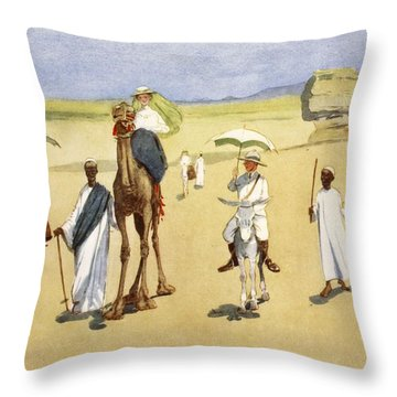 Round The Pyramids, From The Light Side Throw Pillow by Lance Thackeray