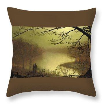 John Atkinson Grimshaw Throw Pillows Fine Art America