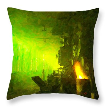 Roundhouse Morning Throw Pillow