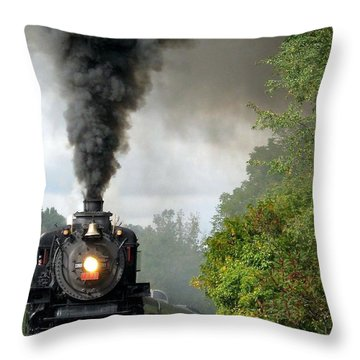Steamin' In The Valley Throw Pillow