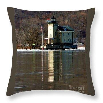 Roundout Lighthouse Throw Pillow