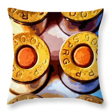 Rounds Throw Pillow by Timothy Bulone