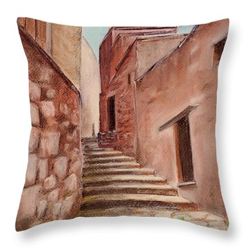 Roussillon Walk Throw Pillow by Anastasiya Malakhova