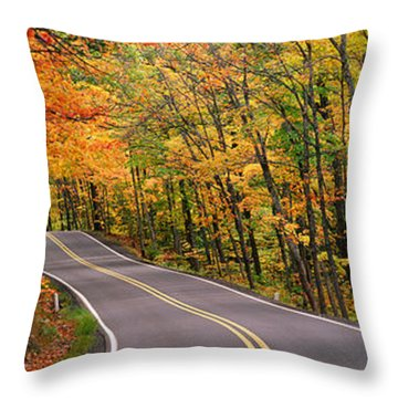 Route 41 Keweenaw Peninsula Nr Copper Throw Pillow