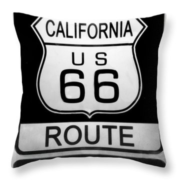 Route 66 End Throw Pillow