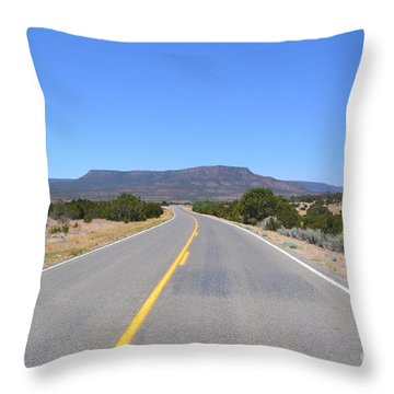 Throw Pillow featuring the photograph Route 66 In New Mexico by Utopia Concepts