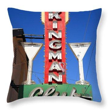 Route 66 - Kingman Club Throw Pillow