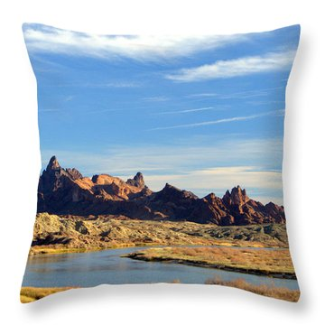 Route 66 Needles Mtn Range 2      Sold Throw Pillow