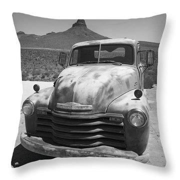 Route 66 - Old Chevy Pickup Throw Pillow by Frank Romeo