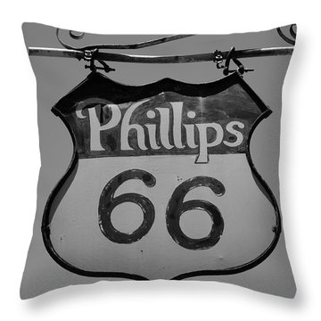 Route 66 - Phillips 66 Petroleum Throw Pillow