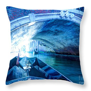 Throw Pillow featuring the photograph Route To Light by Hanza Turgul