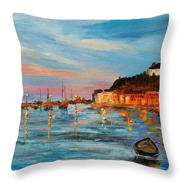 Rovanij Harbour Throw Pillow