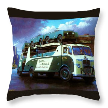 Rovers For Export. Throw Pillow by Mike  Jeffries