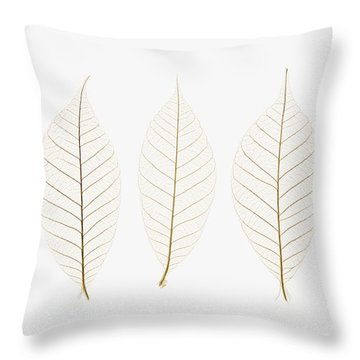 Row Of Leaves Throw Pillow by Kelly Redinger