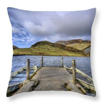 Row Ya Boat  Throw Pillow by Darren Wilkes