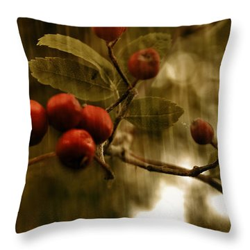Throw Pillow featuring the mixed media  Berry Nice by Fine Art By Andrew David