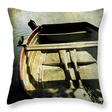 Rowboat Throw Pillow by Bernard Jaubert