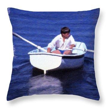 Rower Throw Pillow
