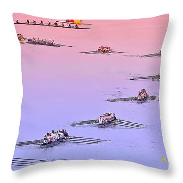 Rowers Arc Throw Pillow