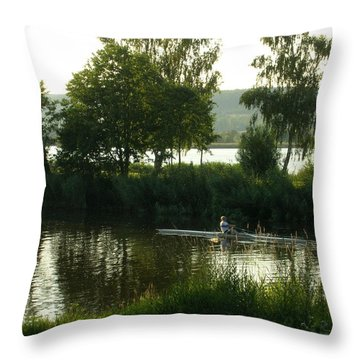 Throw Pillow featuring the photograph Rowing On The Mein by Kristen R Kennedy