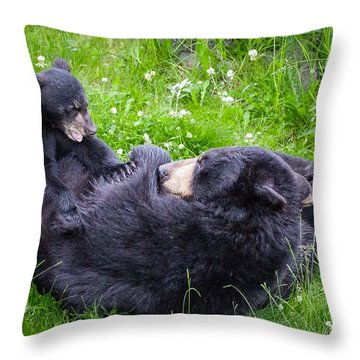 Throw Pillow featuring the photograph Rowr Mama Rowr by Tim Newton