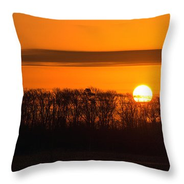 Throw Pillow featuring the photograph Roxanna Sunrise by Bill Swartwout