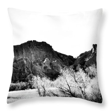 Roxborough Terrain Throw Pillow by Cheryl McClure